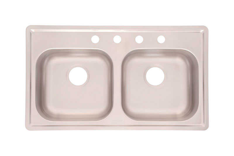 Kindred  Stainless Steel  Top Mount  33 in. W x 19 in. L Kitchen Sink