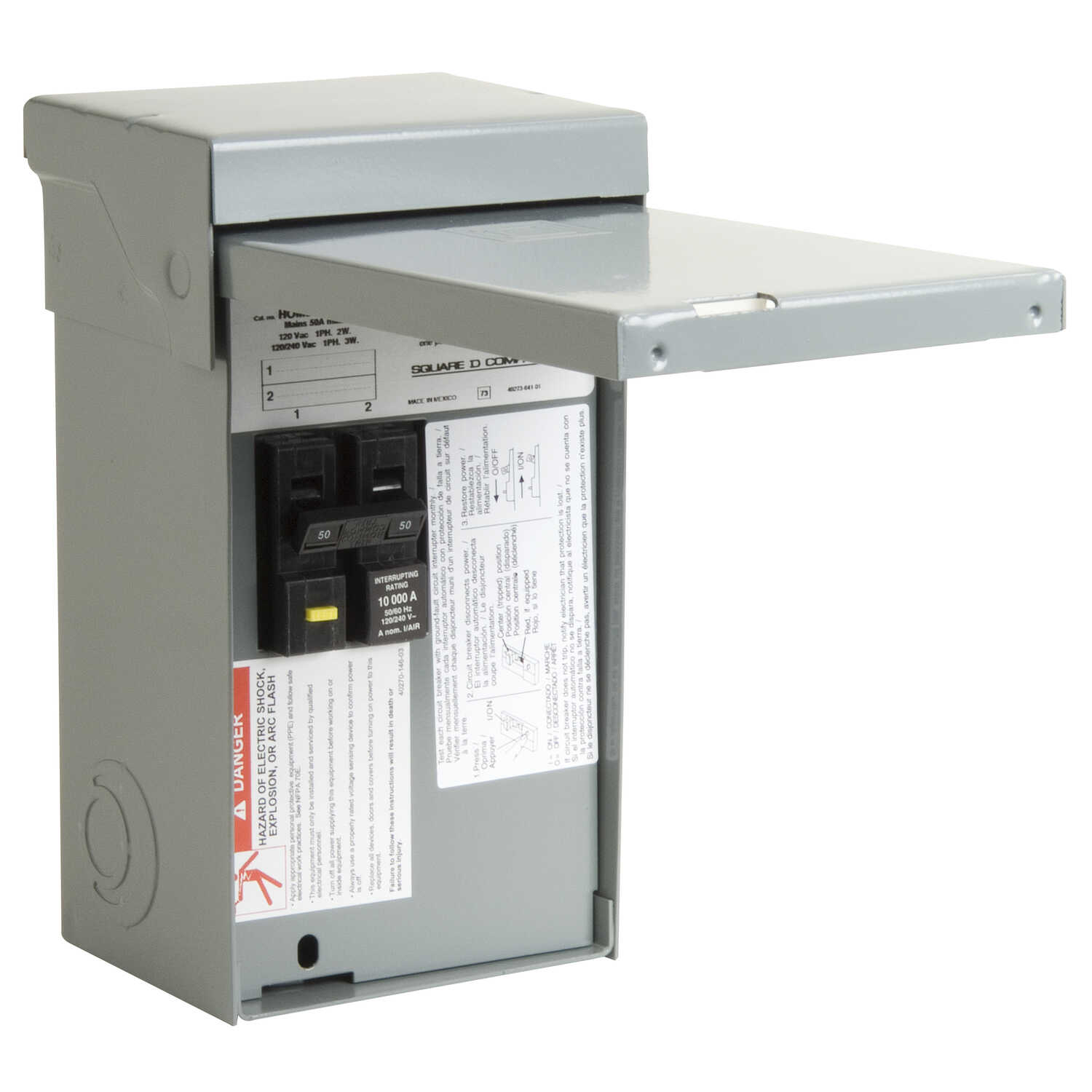 Square D 50 amps 120/240 volt 2 space 4 circuits Bolt-On ... on 50 amp breaker wiring, 200 amp load center wiring, 50 amp sub panel wiring, 30 amp load center wiring, 50 amp outlet wiring, 50 amp disconnect wiring,