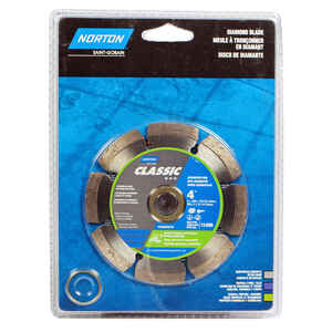 Norton  4  Diamond  Classic  Segmented Rim Saw Blade  0.08 in.  1 pc. 5/8 and 7/8