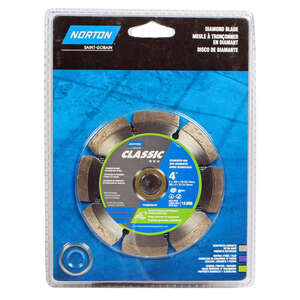 Norton  0.08 in.  4  Classic  Segmented Rim Diamond Saw Blade  5/8 and 7/8  1 pc. Diamond