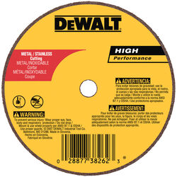 DeWalt  High Performance  4 in. Dia. x 5/8 in.  Aluminum Oxide  Cut-Off Wheel  1 pc.