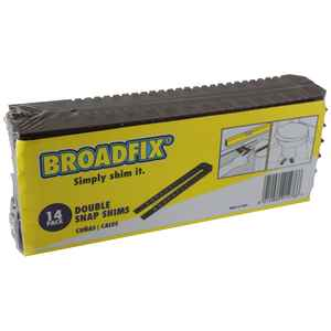 Broadfix  1.8 in. W x 8 in. L Plastic  Double Snap Shims  14 pk