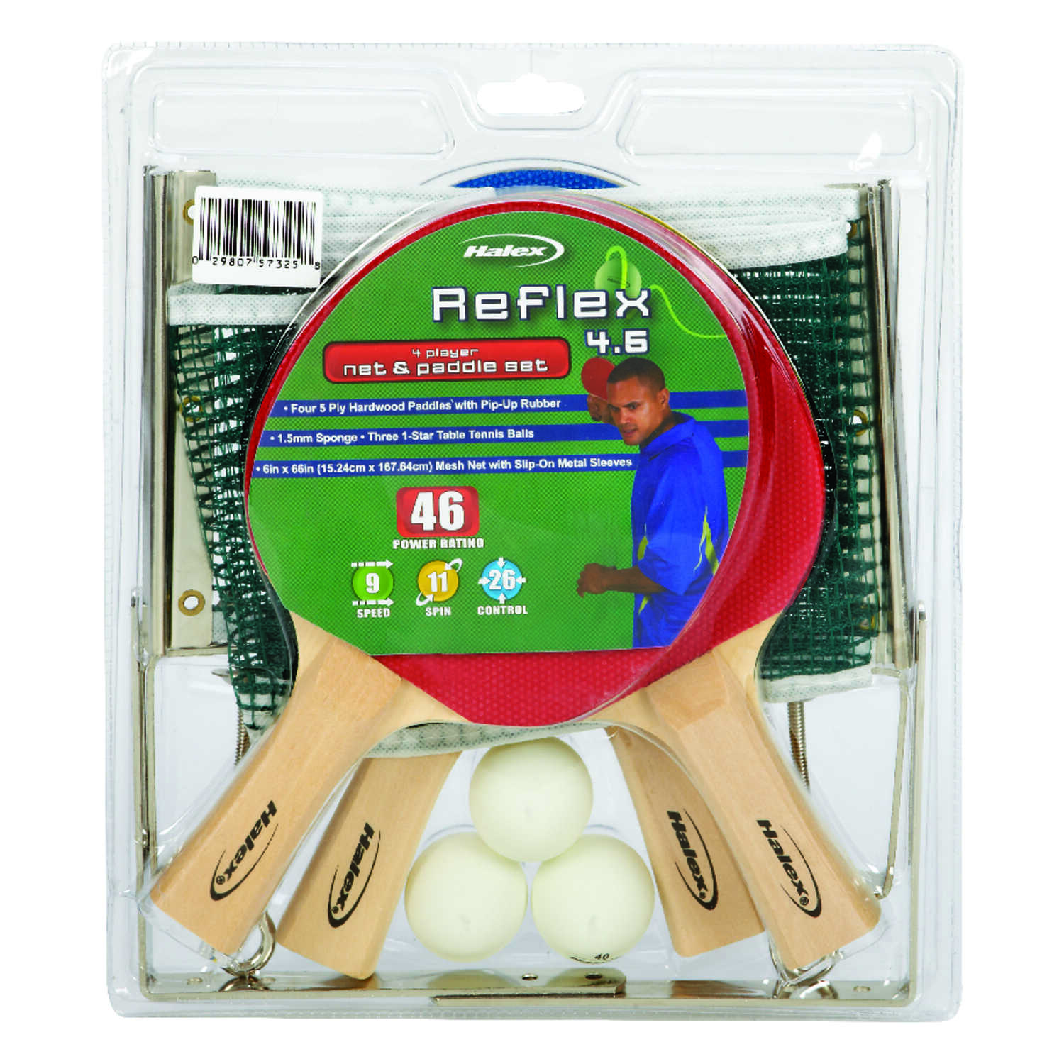 Halex  Hardwood/Rubber  Table Tennis Set