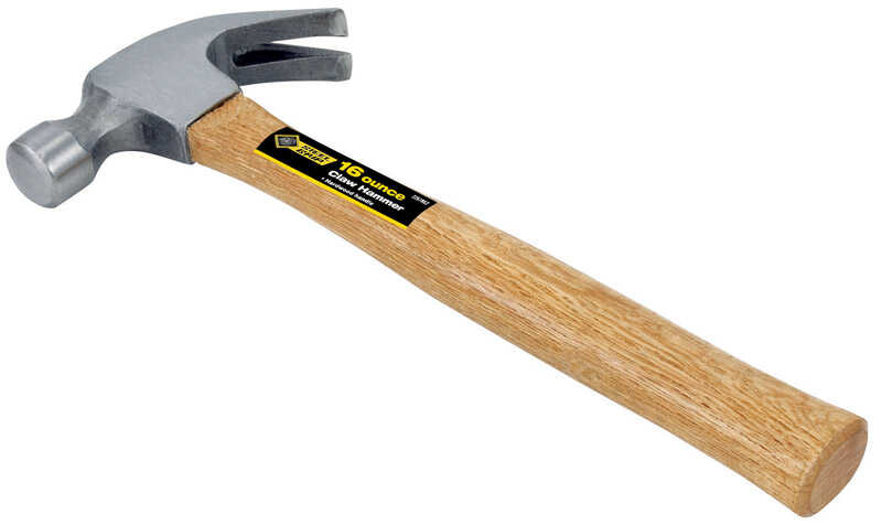 Steel Grip  16 oz. Claw Hammer  Forged Steel  Wood Handle  13 in. L