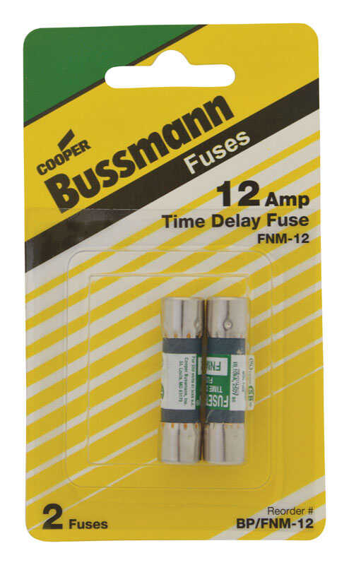 Bussmann  12 amps Dual Element Time Delay Fuse  2 pk