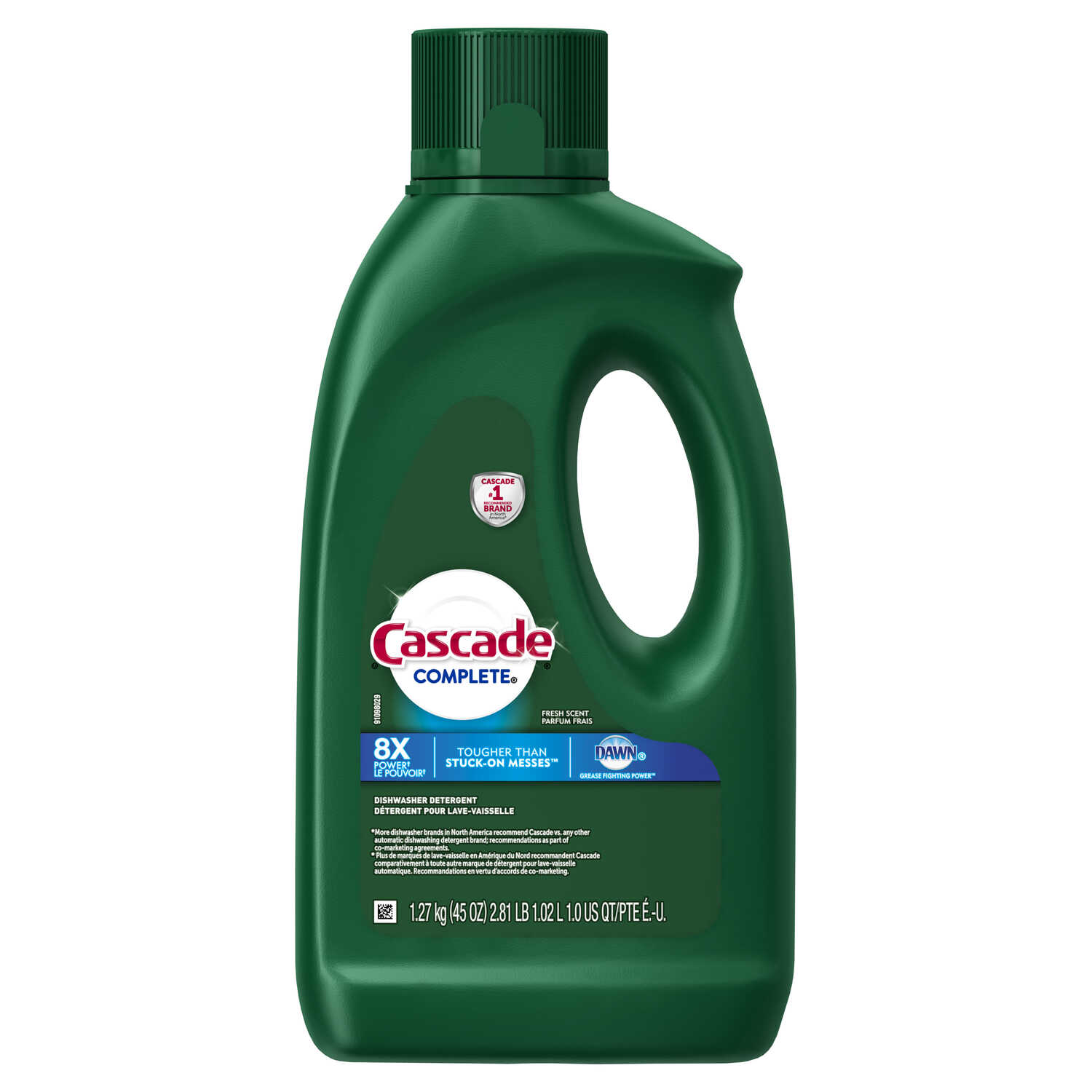 Cascade  Complete  Fresh Scent Gel  Dishwasher Detergent  45 oz.