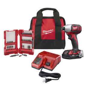 Milwaukee  M18  18 volt 1/4 in. Hex  Cordless  Impact Driver  Kit 1500 in-lb