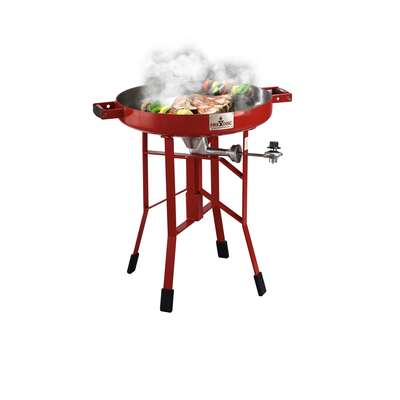 FireDisc Short 1 burner Liquid Propane Grill Fireman Red