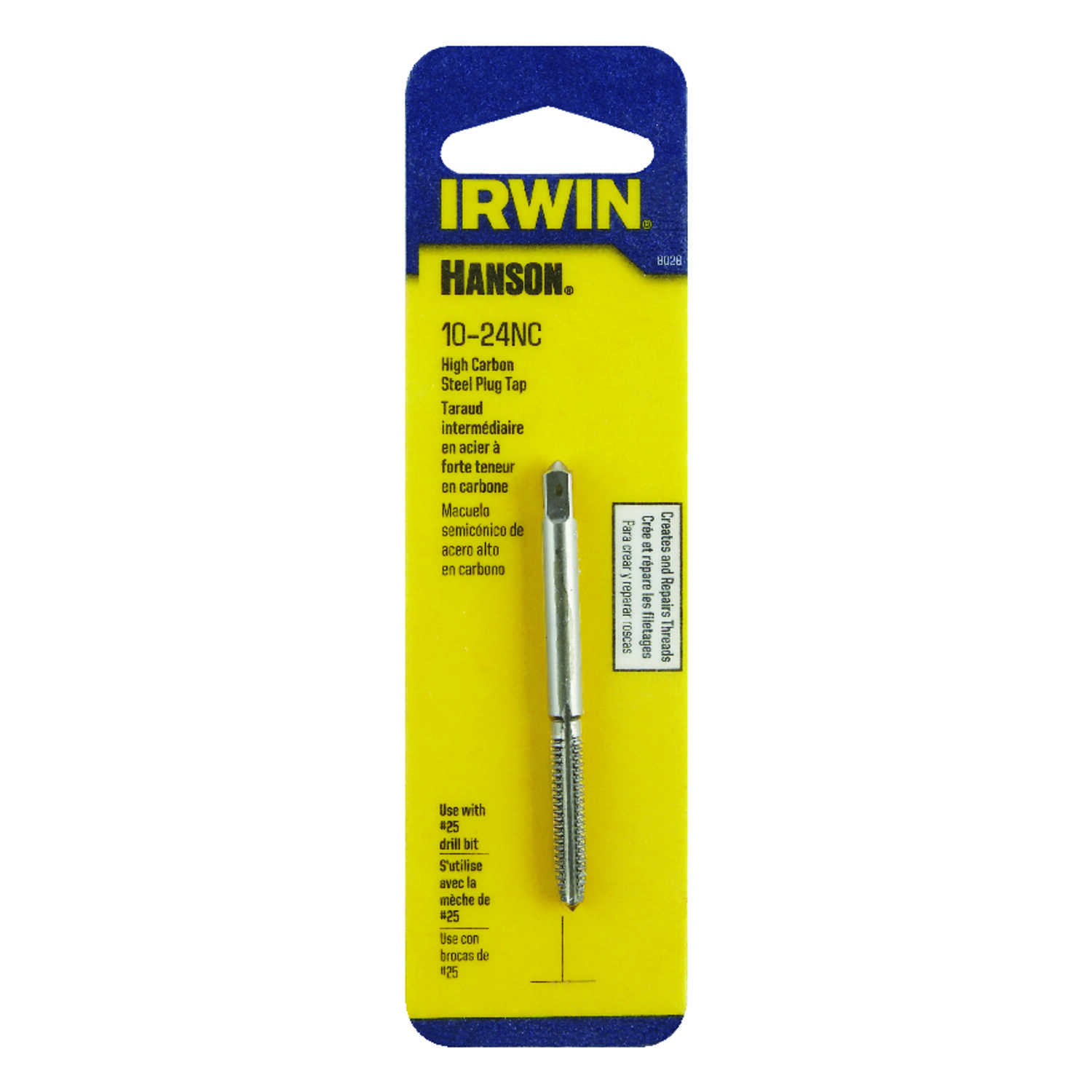 Irwin  Hanson  High Carbon Steel  SAE  Plug Tap  10-24NC  1 pc.