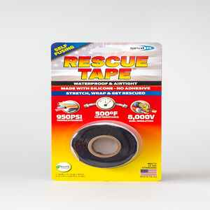 Rescue Tape  1 in. W x 12 ft. L Black  Silicone Tape  6 oz.