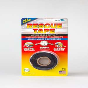 Rescue Tape  Black  1 in. W x 12 ft. L Silicone Tape  6 oz.