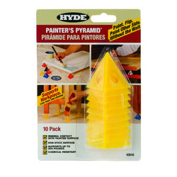 Hyde  2-1/2 in. W Yellow  Plastic  Painter's Pyramid Work Supports
