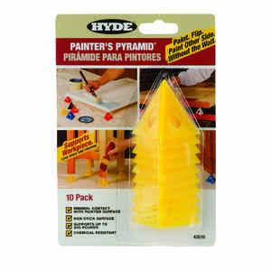Hyde  2-1/2 in. W Plastic  Painter's Pyramid Work Supports  Yellow