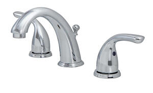 OakBrook  Coastal  Coastal  Chrome  Widespread  Lavatory Pop-Up Faucet  4-12 in.