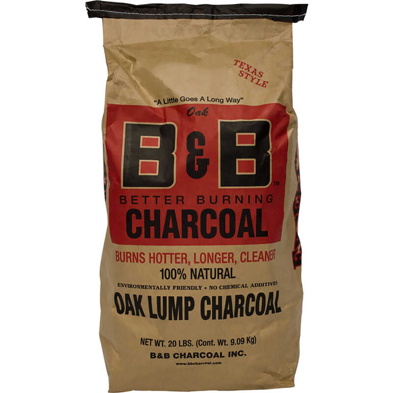 B&B Charcoal  Oak Hardwood  Lump Charcoal  20 lb.