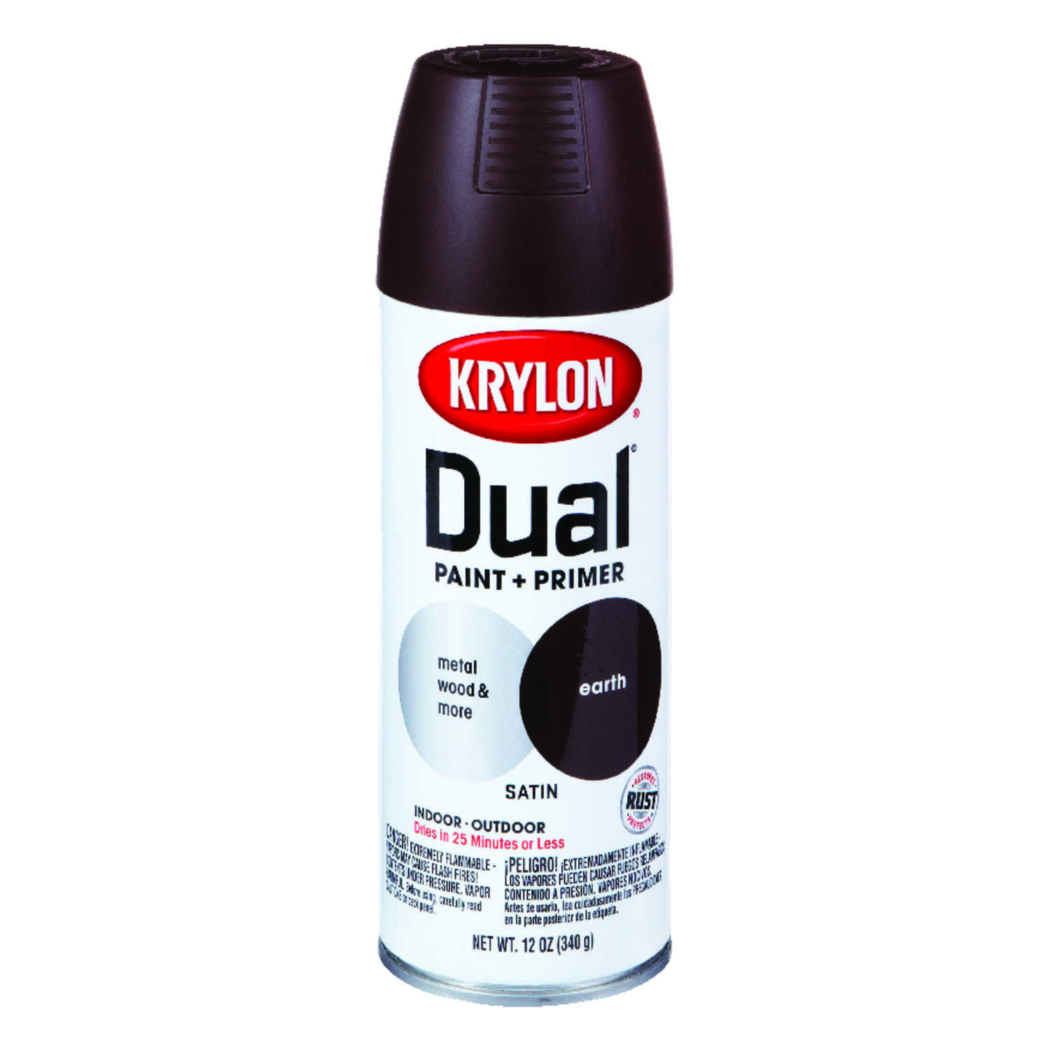 Krylon  Dual Superbond  Satin  Earth  12 oz. Paint + Primer Spray