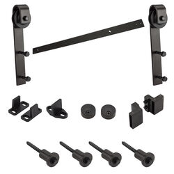 National Hardware  1-1/2 in. H x 72 in. W Steel  Sliding Door Track Kit