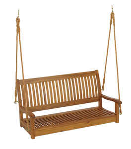 Living Accents  Nyatoh  Wood  Porch Swing  49-1/16 in. 23-5/8 in. 23-5/8 in. 500 lb.