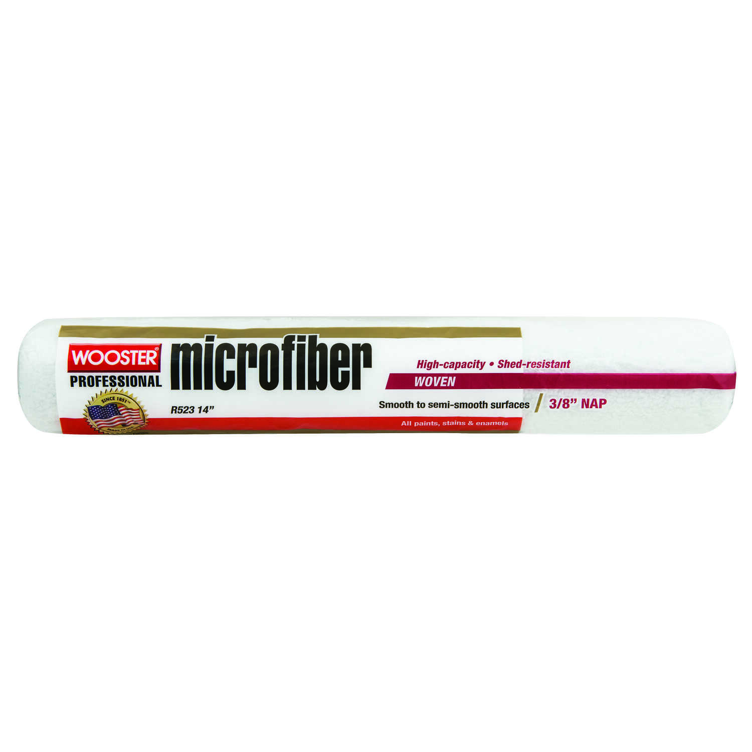 Wooster  Microfiber  Microfiber  3/8 in.  x 14 in. W Paint Roller Cover  1 pk