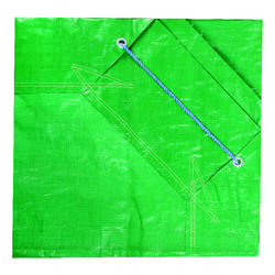 Yard Tarp  7 ft. W x 7 ft. L Heavy Duty  Polyethylene  Tarp  Forest Green