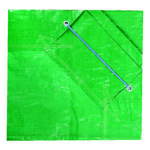 Ace  7 ft. L x 7 ft. W Heavy Duty  Forest Green  Tarp  Polyethylene