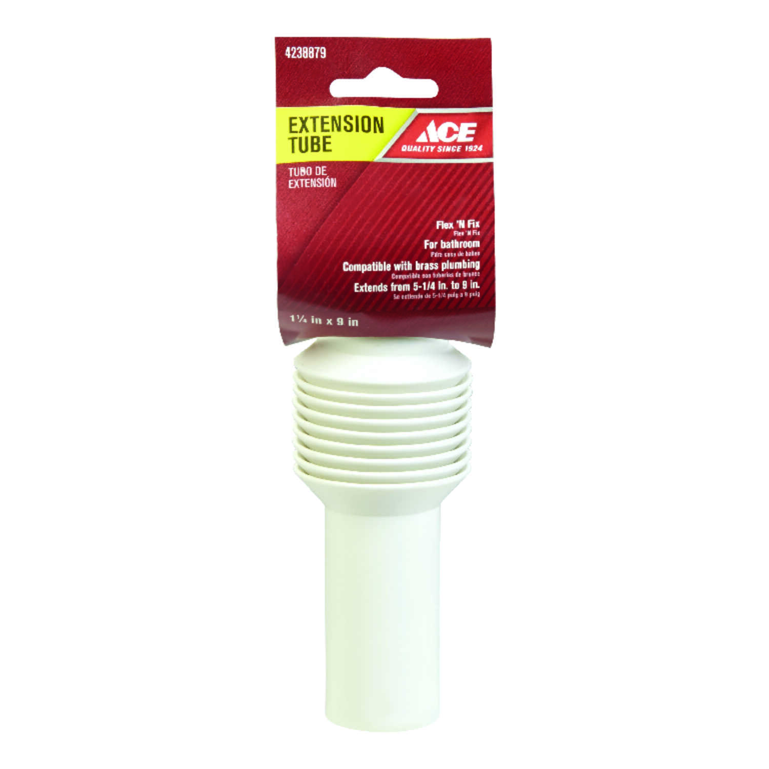 Ace  1-1/4 in. Dia. x 9 in. L Extension Tube  Plastic
