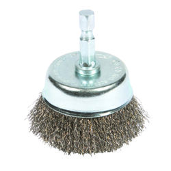 Forney  3 in. Dia. x 1/4 in.  Coarse  Steel  Crimped Wire Cup Brush  6000 rpm 1 pc.