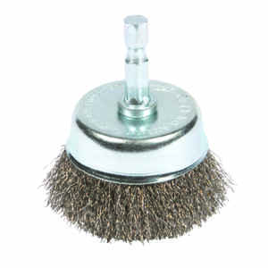 Forney  3 in. Dia. x 1/4 in.  Coarse  Steel  1 pc. Crimped Wire Cup Brush
