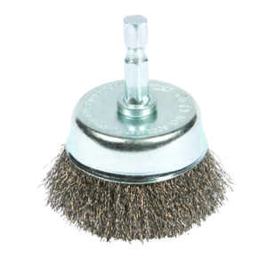 Forney  3 in. Dia. x 1/4 in.  Coarse  Steel  Crimped Wire Cup Brush  1 pc.