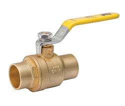 B&K  ProLine  3/4 in. Brass  Solder  Ball Valve  Full Port