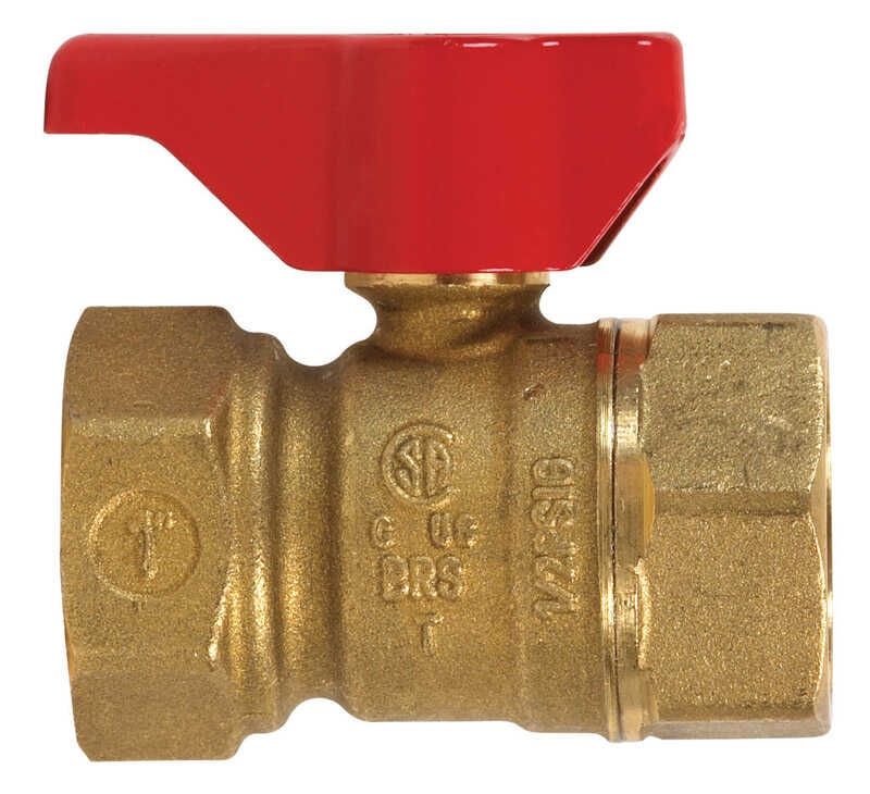 B & K  Gas Ball Valve  1 in. FPT   x 1 in. Dia. FPT  Brass  Two Piece