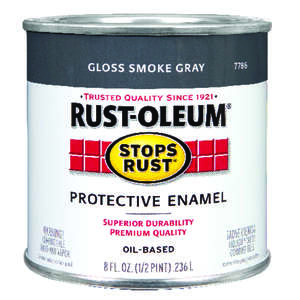 Rust-Oleum  Indoor and Outdoor  Smoke Gray  0.5 pt. Protective Enamel  Gloss