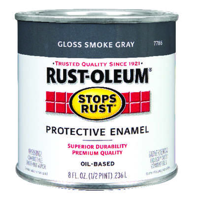 Rust-Oleum  Stops Rust  Gloss  Smoke Gray  Oil-Based  Alkyd  Protective Enamel  Indoor and Outdoor