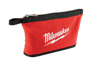 Milwaukee  0.25 in. W x 8 in. H Canvas  Tool Pouch  1 pocket Red  1 pc.