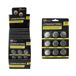 Max Force Lithium 2032 3 volt Button Cell Battery 9 pk