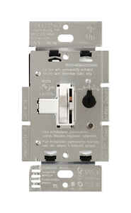 Lutron  Toggler  White  150 watts 3-Way  Dimmer Switch  1 pk