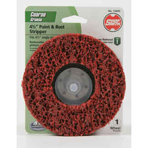 Shopsmith  4.5 in. Silicon Carbide  Center Mount  Paint and Rust Remover Disc  60 Grit Coarse  1 pk