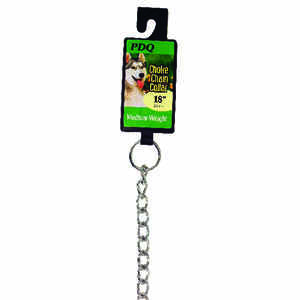 PDQ  Silver  Steel  Dog  Choke Chain Collar  Medium/Large