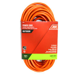 Ace Indoor or Outdoor 100 ft. L Orange Extension Cord 16/3 SJTW