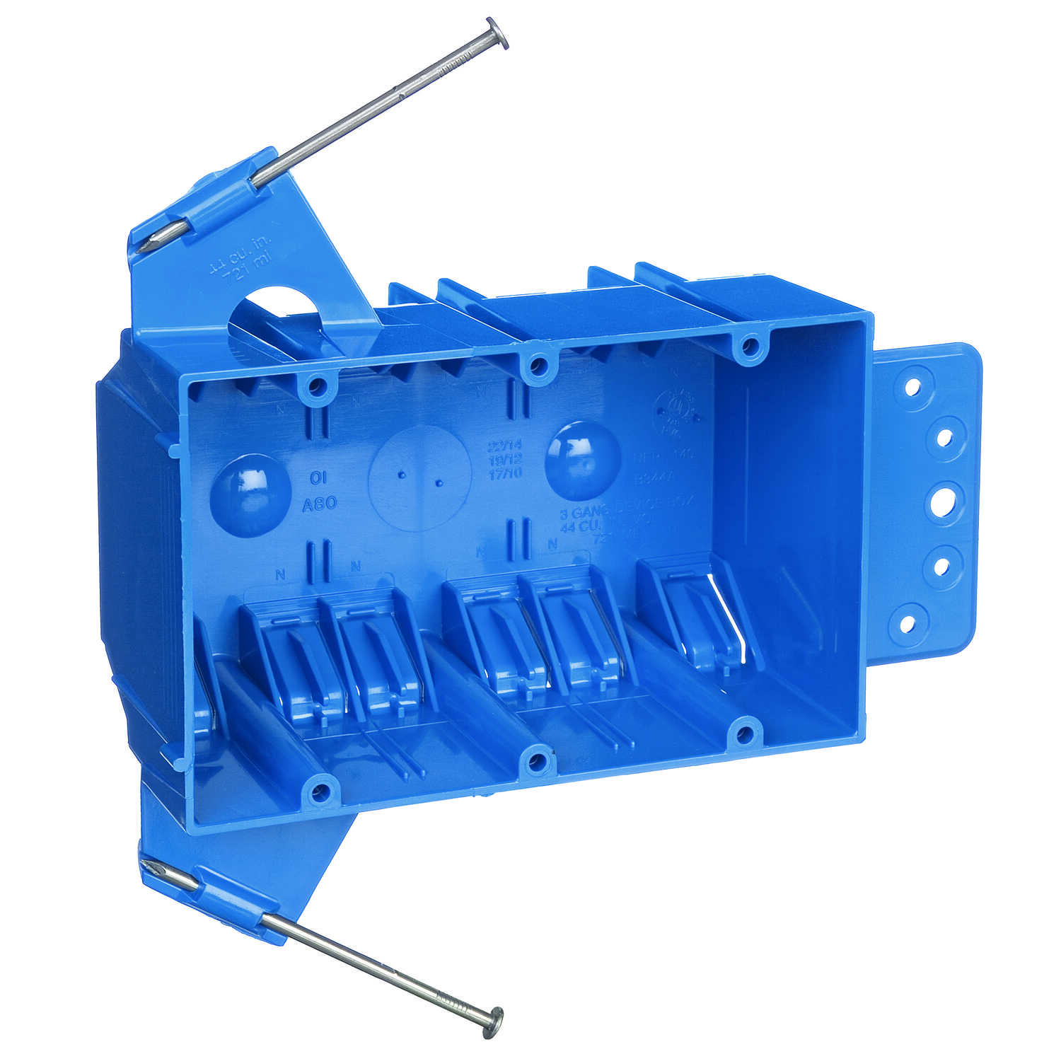 Carlon 5-5/8 in. 5-5/8 in. H 3 Gang 3 gang Outlet Box Blue PVC ...