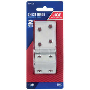Ace  2.75 in. W x 1-1/2 in. L Chrome  Steel  Chest Hinge  2 pk