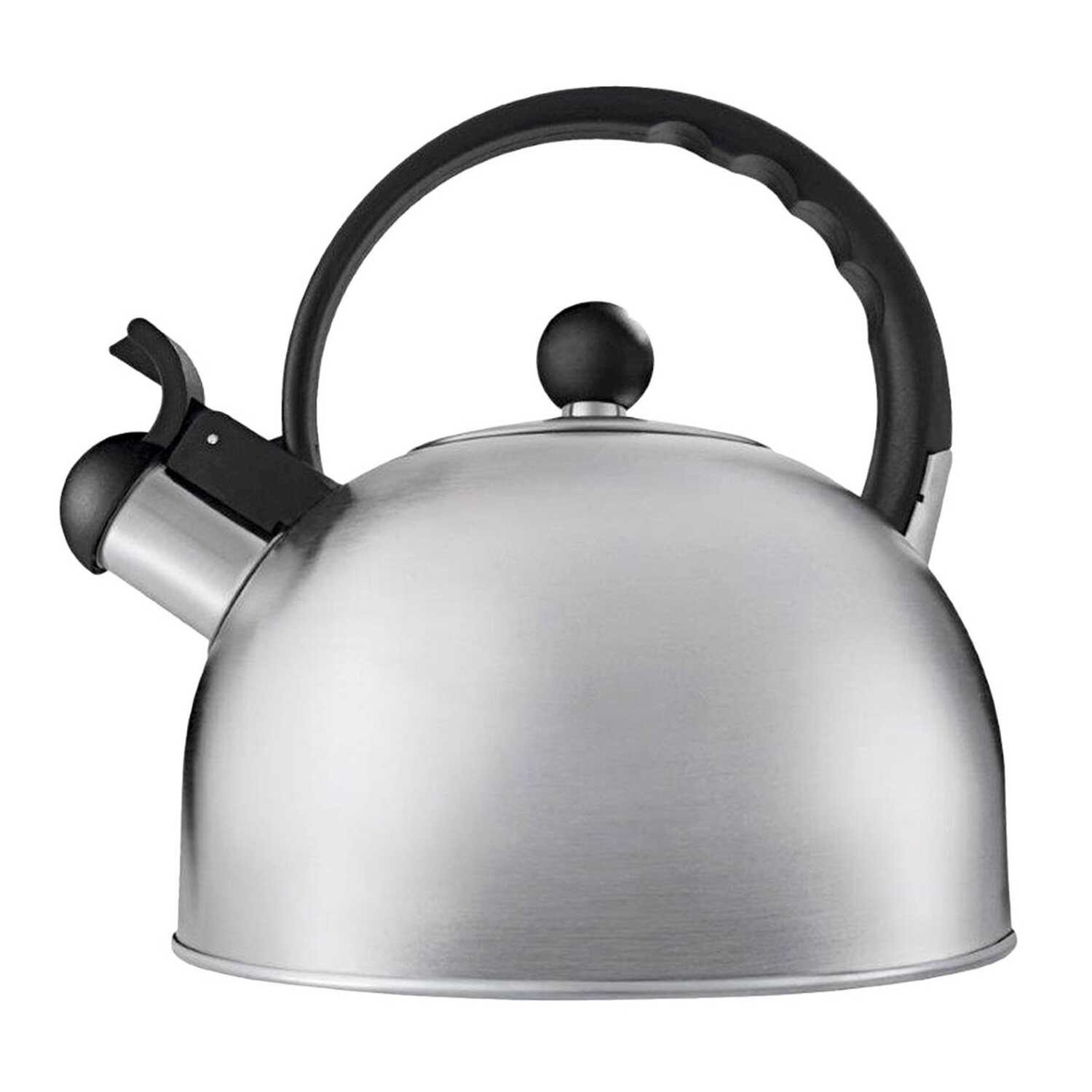 Copco  Tucker  Silver  Classic Whistle  Stainless Steel  1-1/2 qt. Tea Kettle