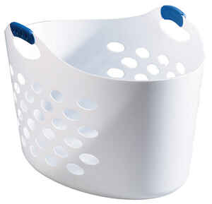 Rubbermaid  White  Plastic  Laundry Basket