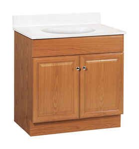 Continental Cabinets  Single  Oak  Vanity Combo  32 in. H x 30 in. W x 18 in. D