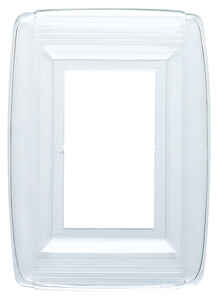 Westinghouse  Clear  1 gang Plastic  Wall Plate  1 pk
