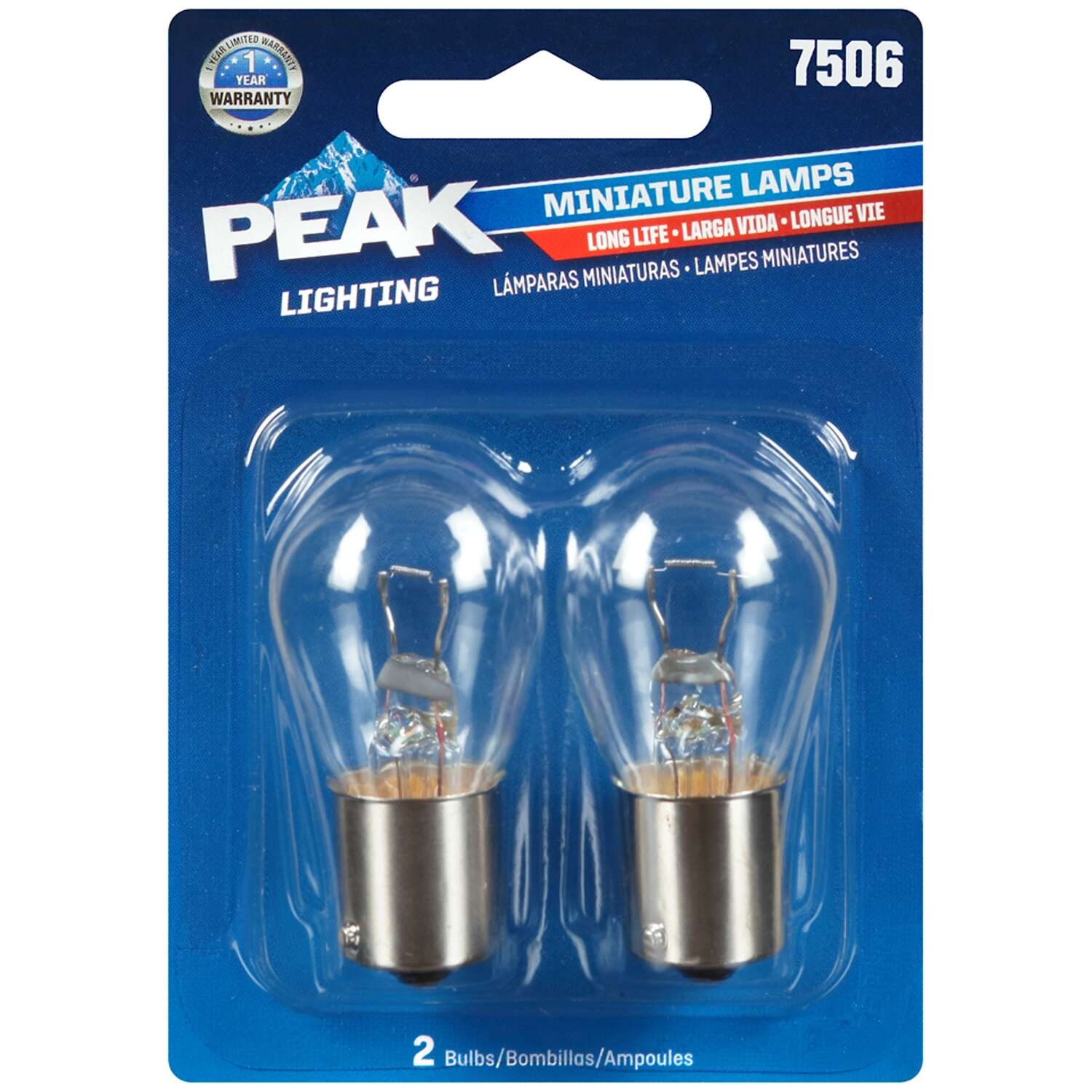 Peak Incandescent Parking/Stop/Tail/Turn Miniature Automotive Bulb 7506