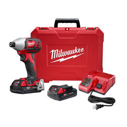 Milwaukee M18 18 volt 3 amps 1/4 in. Cordless Brushed Impact Driver Kit (Battery & Charger)