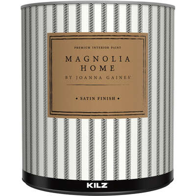 Magnolia Home by Joanna Gaines  KILZ  Satin  Base 1  Acrylic  Paint and Primer  Indoor  1 qt.