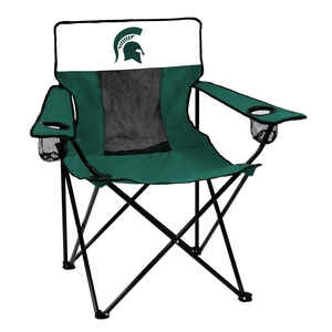 Logo Brands  Elite  1 position  Green/White  Bag  Collegiate Team Canvas Chair  Michigan State