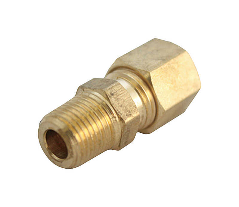 JMF  3/8 in. MPT  Dia. x 3/8 in. MPT  Dia. Brass  Compression Fitting